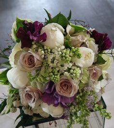 peonies, roses, lilacs, hydrangea, trailing jasmine