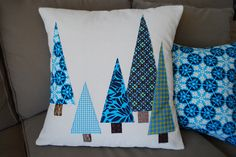 Mom's Christmas Pillows by Sew Katie Did Christmas Gift Baskets, Christmas Mom, Christmas Sewing, Christmas Makes, Christmas Projects, Christmas Decorations, Christmas Wrapping, Christmas Cushions, Christmas Pillow