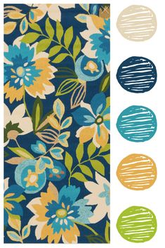 It's easy to pull paint colors from a statement area rug. Indoor Outdoor Area Rugs, Outdoor Sofa, Garden Seating, Tropical Paradise, Paint Colors, Kids Rugs, Easy, Fun, Painting