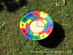 Easy diy sundial. Would go great with a hands on unit study either Mayans or study on time or camping,etc.