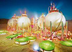 """Refinery Kitsch: David LaChapelle's """"Land Scape"""" Photography Artist David LaChapelle tackled fossil fuels in his 2013 photo series """"Land Scape,"""" which captured models of oil refineries assembled from. David Lachapelle, Photography Projects, Fine Art Photography, Street Photography, Rainbow Photography, Conceptual Photography, Light Photography, Star Wars, Off The Wall"""