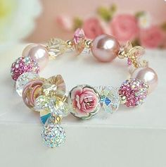 Crystal bracelet ༻ღ | Beautiful things I love