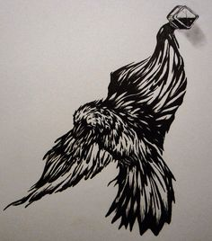 Ink raven by Shayla Tansey Raven, Original Artwork, Sketches, Ink, Drawings, Painting, Animals, Animales, Animaux
