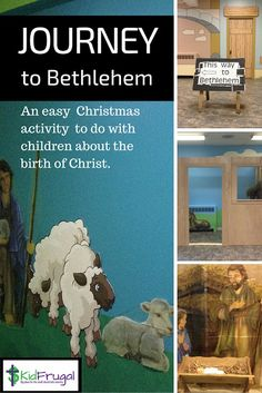 Journey to Bethlehem - interactive Bible story for children about the shepherds and the birth of Christ. Advent Activities, Activities To Do, Christmas Activities, Christmas Program, Old Christmas, Simple Christmas, The Birth Of Christ, Birth Of Jesus, Christmas Scene Setters