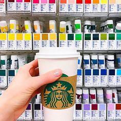 No place I'd rather be!  #coffeeandartsupplies #givemealltheartsupplies #somuchdesignworktodo #artsupplies #samflax