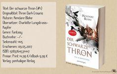 """""""Der schwarze Thron - Die Schwestern"""" von Kendare Blake ist der erste Band einer Quadrologie, der sich Schritt für Schritt aufbaut. Die Autorin erschafft dabei eine düstere, brutale und elegante Atmosphäre die der bekannten Serie """"Game of Thrones"""" ähnelt. ~ bildhafte Kulissen ~ zahlreiche verknüpfte Verhältnisse ~ fehlender konstanter Spannungsbogen ~"""