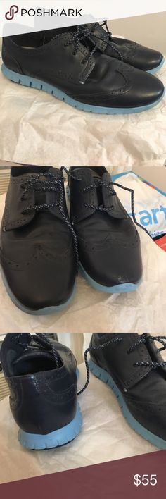 1bc6150f654b Women s ZEROGROUND Cole Hann shoe Size 9 Cole Haan. ZEROGROUND blue oxford.  Super comfortable