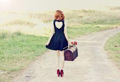 Romwe Heart Dress, Asos Red Heels