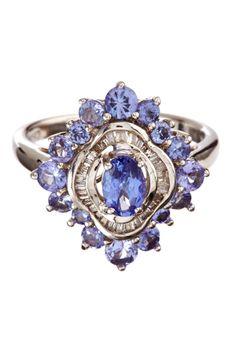 Savvy Cie Diamond & Tanzanite Ring on HauteLook