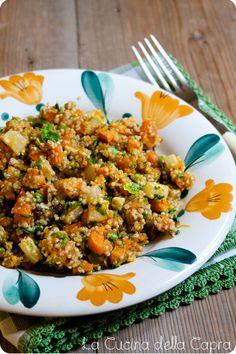 quinoa con zucca e noci
