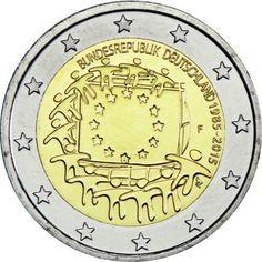 2 Euro CuNi Europaflagge F UN