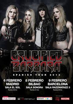 CRUCIFIED BARBARA, Tour 2013 España http://www.livenation.es/artist/crucified-barbara-tickets