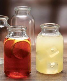 Look at this #zulilyfind! Valley Farm Milk Bottle - Set of Six by Circle Glass #zulilyfinds