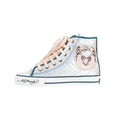 Ed Hardy Damen Sneaker MIDTOWN silver - http://on-line-kaufen.de/ed-hardy/ed-hardy-damen-sneaker-midtown-silver