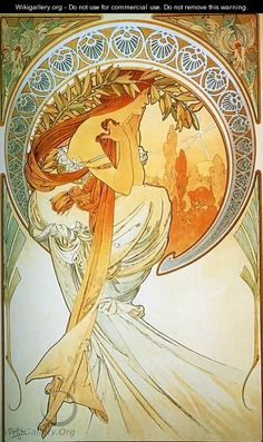 Dance. From The Arts Series. 1898 - Alphonse Maria Mucha