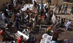 """عشرات القتلى والجرحى في تفجير استهدف ضريح…: عشرات القتلى والجرحى في تفجير استهدف ضريح """"شاه نوراني"""" الشيعي شمال كراتشي في باكستان"""