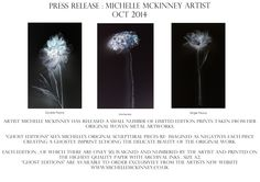 Press release - Ghost Editions a new collection of art prints by artist Michelle McKinney.