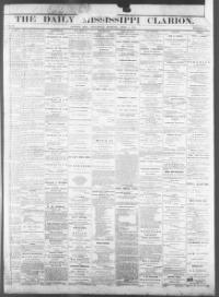 HINDS COUNTY, Mississippi - Jackson -  The Daily Mississippi Clarion - 1866 « Chronicling America « Library of Congress