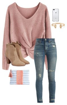"""Thursday"" by abbyharshman8 on Polyvore featuring RE/DONE, Kendra Scott and JustFab"
