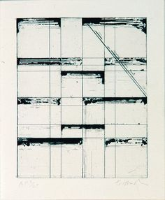 Brice Marden, Etching for Parkett, for Parkett 7 -repinned by http://LinusGallery.com  #art #artists #contemporaryart