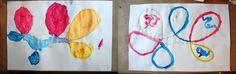 Creative Invitaton Paint and Looping Lines :: Tinkerlab