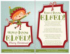 You've Been Elfed Printable | You've been Elfed Family/Neighborhood Christmas Fun! Free Download ...