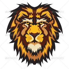 Buy Lion Head Graphic Mascot Vector Image by chromaco on GraphicRiver. Graphic Mascot Vector Image of a Lion Head with Mane Africa Silhouette, Lion Eyes, Zoo Art, Lion Illustration, Lion Images, Lion Tattoo Design, Lion Wallpaper, Lion Logo, Cartoon Logo