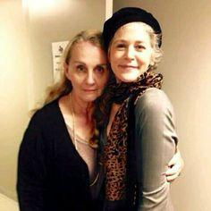 Norman Reedus's mom and Melissa McBride! #TWD #TheWalkingDead