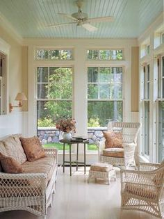 Considering lighting when adding an enclosed porch.