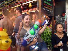 Songkran, festival de l'eau et nouvel an thaï à Chiang Mai, Thaïlande