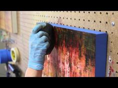 ▶ Cold Wax Painting Demo - Cresting Creek - Ruth Andre Fine Art - YouTube