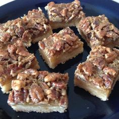 """Maple Pecan Shortbread Squares 