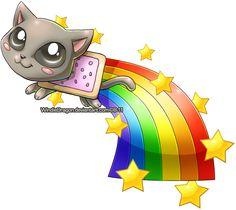 Nyan Cat Chibi by WindieDragon.deviantart.com on @deviantART