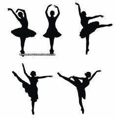 Ballerina silhouette patterns
