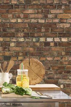 Brown Brick Wallpaper is a photo mural of a realistic looking rustic brick wall. It creates a cozy, loft look in a living room, bedroom, office or kitchen. The unique photographic process creates a high resolution image that captures all the texture in the brick wallpaper. It's easy to hang, so perfect for DIY enthusiasts! It's also removable when you're ready to redecorate. Brick Wallpaper Bedroom, Faux Brick Wallpaper, Brown Brick, Photo Mural, Bedroom Office, It's Easy, Wall Murals, Loft, Rustic