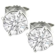 1 06ct Diamond Studs Earrings