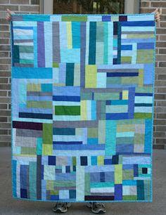 Crazy Mom Quilts - Blue & Green Total Scrap Love!