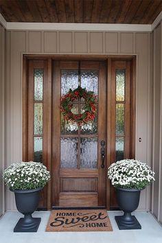 Best Front Doors, Front Door Entrance, Wood Front Doors, Exterior Front Doors, The Doors, Glass Front Door, Front Door Decor, Farmhouse Front Doors, Beautiful Front Doors
