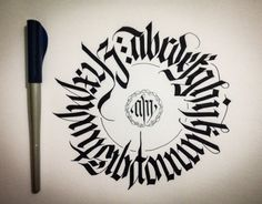 CALLIGRAPHY FRAKTUR • CIRCULAR ALPHABET