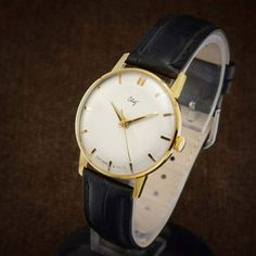 Your place to buy and sell all things handmade Gents Watches, Watches For Men, Luxury Dress, Watch Case, Black Leather, Jewels, Unique, Stuff To Buy, Channel