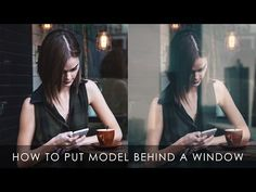 How to put a model behind a window | Photoshop tutorial - YouTube