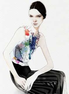 Chic fashion illustration // Nuno DaCosta