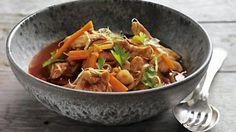 Kylling i sursød sauce til Dukan-kuren   Nye opskrifter til Dukan-kuren fra Ude og Hjemme