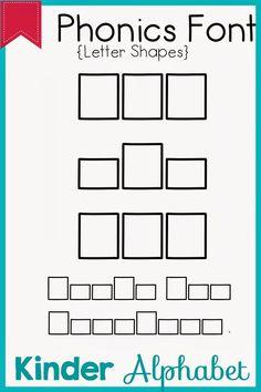 Kinder Alphabet: Phonics Fonts for Teachers Update Teacher Fonts, Teacher Resources, Teaching Ideas, Word Work, Language Arts, Kindergarten, Classroom, Clip Art, Lettering