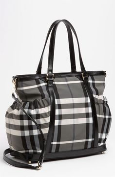 Burberry Check Print Diaper Bag available at #Nordstrom