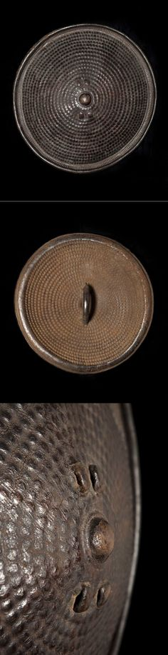 GURAGE/ZAY shield, Ethiopia, late 19th-early 20th c., (56 cm). Hide.