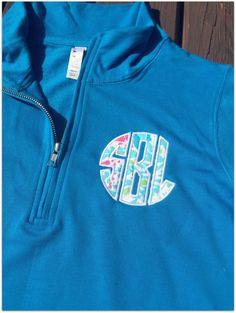 Let's Cha Cha Monogrammed Quarter Zip Pullover - pinned by pin4etsy.com