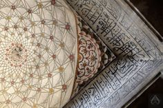 Interior details of Dai Anga's tomb (built 1671 AD) in Lahore. Dai Anga was the wet nurse of Mughal Emperor Shah Jehan.  Photo © intricateworks.com