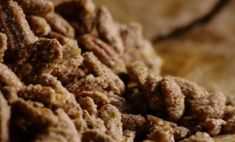 These slow-roasted whole pecans coated in an egg white and sugar glaze spiced with cinnamon make a wonderful snack for any occasion. Apple Crisp Recipes, Pecan Recipes, Snack Recipes, Dessert Recipes, Appetizer Recipes, Roasted Pecans, Candied Pecans, Almonds, Sugar Coated Pecans