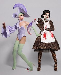 Good and Evil twins.. AQUARIA! So proud of her!!! She hasn't even lip singed for her life, thank Ru! This should be and more than likely will be the winner of Rupauls Drag Race Season 10!! #aquaria #winner #twins #flawless #bestdrag #drag #rpdr #rpdr10 #ageofaquaria